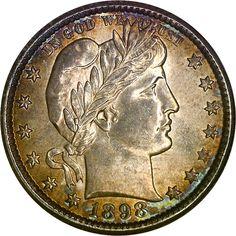 Barber Quarters - 1898 O 25C MS