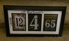 50th wedding anniversary gift i made for my parents.
