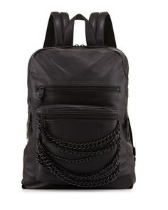 Domino Chain Large Leather Backpack, Black by Ash at Neiman Marcus Last Call.