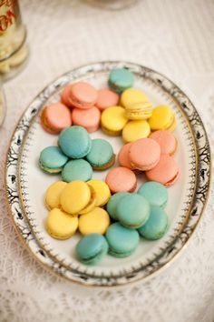 pastel macaroons - perfect for Easter or a baby shower