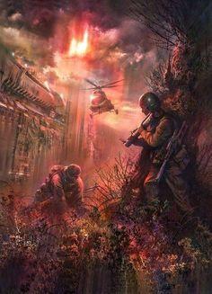 Apocalypse Landscape, Apocalypse Art, Fantasy Landscape, Fantasy Art, Cthulhu, Fallout Posters, Roadside Picnic, Post Apocalyptic Art, Futuristic Art