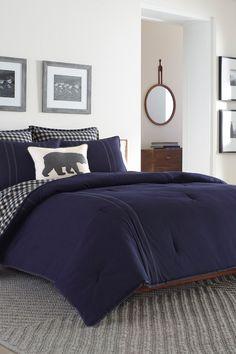 Eddie Bauer Kingston Comforter Set - Navy