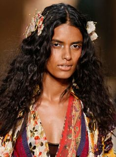 Lakshmi Menon  DVF Spring 2010  http://www.allure.com/beauty-trends/runway-beauty/spring-2010/diane_von_furstenberg_hair_and_makeup#slide=4