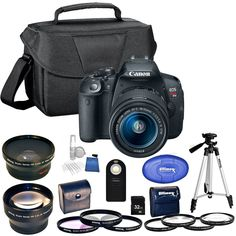 Canon EOS Rebel T5i 18.0 MP Digital SLR Touchscreen Camera Kit with EF-S 18-55mm f/3.5-5.6 IS STM Lens 32GB Bundle (Certified Refurbished)