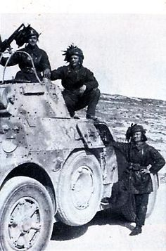 Italian Bersaglieri and Armored car AB-41, North Africa WWII, pin by Paolo Marzioli