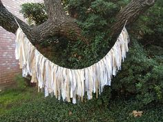 Rustic Wedding Decor, Wedding Decoration, Wedding Garland, Wedding Banner, Bridal Shower Decor, Shabby Cottage Chic, Fabric Garland  by AWorkofHeartSA, $75.00