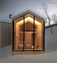 """Le cabinet d'architecture norvégien Reiulf Ramstad Arkitekter signe """"the Holiday Home""""..."""