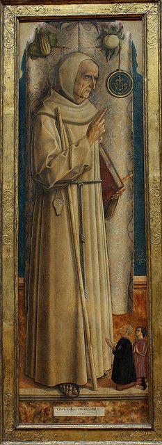 Carlo CRIVELLI, Saint Jacques de la Marche. Signé et daté au milieu sur le cartellino : OPVS CAROLI CRIVELLI VENETI. 1477, 1477 by Ondra Havala, via Flickr