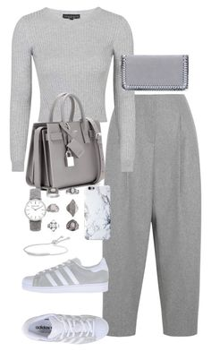 Untitled #2075 by ritavalente on Polyvore featuring polyvore, fashion, style, Topshop, Acne Studios, adidas Originals, Yves Saint Laurent, STELLA McCARTNEY, Monica Vinader and clothing