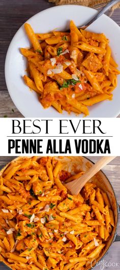 This easy penne alla vodka recipe is made with perfectly seared chicken chunky tomatoes and the best creamy marinara sauce! penneallavodka chicken pasta penne italianrecipes how to make a killer baked ziti Vodka Recipes, Easy Pasta Recipes, Easy Meals, Dinner Recipes, Cooking Recipes, Healthy Recipes, Chicken Pasta Recipes, Best Penne Alla Vodka Recipe, Easy Penne Recipe