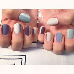 ◻️◽▫️◾️◼️◻️ #nail#art#nailart#ネイル#ネイルアート #blue#mode#edge#ショートネイル#nailsalon#ネイルサロン#表参道 #blue111#edge111#mode111 (111nail)