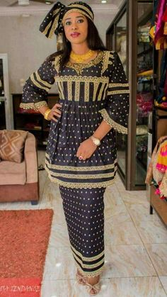 Nos salutations. C est cool votre tenue African Dresses For Women, African Print Dresses, African Print Fashion, Africa Fashion, African Fashion Dresses, African Attire, African Wear, African Women, Maxi Outfits