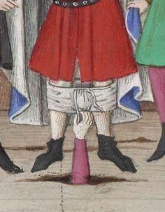 Decameron, 1401-1500. Pantsed. Le livre appellé Decameron, autrement le prince Galeot surnommé, qui contient cent nouvelles racomptées en dix jours par sept femmes et trois jouvenceaulx, lequel livre ja pieça compila et escripvi Jehan Boccace de Celtald en langaige florentin. 1401-1500 Ms-5070 réserve Folio 287v.