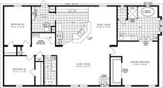 Floorplans for Manufactured Homes 1600 to 1799 Square Feet