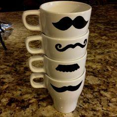Moustache mugs :)