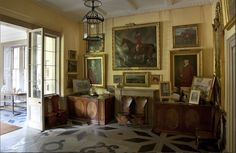 Entrance Hall, Bowhill. Home to the Dukes of Buccleuch and Queesnbury.