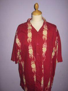 vintage 1930s 1940s 1950s style rockabilly hawaiian shirt mens  SIZE XL