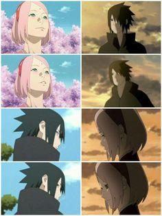 his smile ♥. Sasuke Shippuden, Sasuke Sakura Sarada, Naruto Sasuke Sakura, Kakashi, Naruto Uzumaki, Naruhina, Anime Naruto, Manga Anime, Boruto Naruto Next Generations