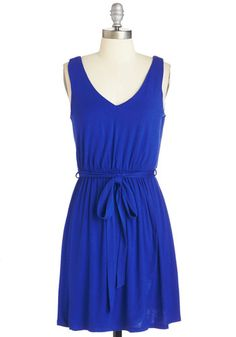 Standout and About Dress. A fulfilling day of errands has never felt as sweet as it does while wearing this royal-blue dress! #blue #modcloth