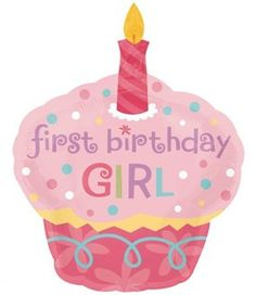Anagram International Sweet Little Cupcake Girl Balloon 36 Pink ** You can get more details by clicking on the image.