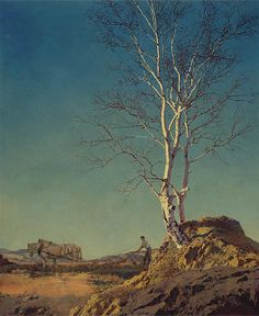 "Maxfield Parrish ""White Birch"" 1929 oil on board | Flickr - Photo Sharing!"