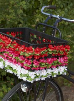 Flower crate for bike