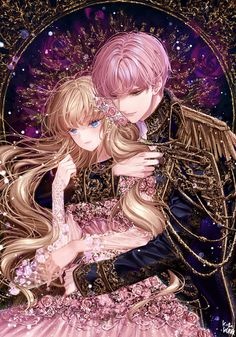 Kai Fine Art is an art website, shows painting and illustration works all over the world. Anime Couples Drawings, Anime Couples Manga, Cute Anime Couples, Couple Manga, Anime Love Couple, Art Manga, Anime Art Girl, Couple Wallpapers, Anime Sisters