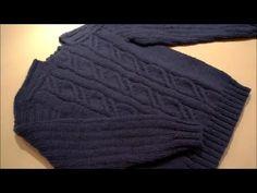 Мужской свитер.Размер 46-48.Часть №1 - YouTube
