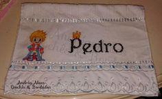 Toalha lavabo / Escolar - Ponto Cruz - Pequeno Príncipe - Pedro - Dohler