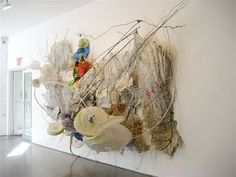 Judy Pfaff, Entanglement ...the biggest, most tangled mess of materials pinned up to a wall