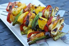Tropical Grilled Shrimp and Mango Kabobs | #Grilling | Cooking-Outdoors.com
