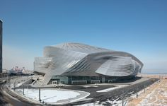 dalian international conference center, China by coophimmelb(l)au: its a fu*$%ing alien aircraft....