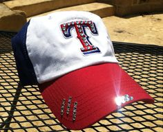 Texas Rangers Baseball Distressed Style Hat EXTRA by iheartmoes, $40.00