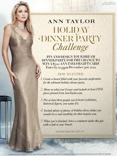 You must follow Ann Taylor on Pinterest to enter the contest. Full Rules: http://on.fb.me/WOa8aN