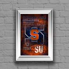 A personal favorite from my Etsy shop https://www.etsy.com/listing/274540318/syracuse-orange-art-syracuse-poster