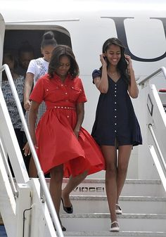 OBAMAS ON THE MOVE: Michelle Obama Takes Sasha & Malia To Visit Military Familes In Italy + President Obama Discusses The Charleston Shootings At Tyler Perry's House