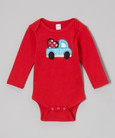 Take a look at this Red Valentine Truck Bodysuit - Infant by Petunia Petals on #zulily today!