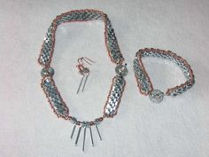 Jewelry Set Made From Genuine Hardware: Hex Nuts, Wing Nuts, & Washers