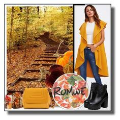 """1.Fall ready- ROMWE"" by smajicelma ❤ liked on Polyvore featuring National Tree Company"