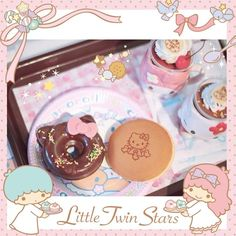 Cute breakfast for Sanrio lovers♡    サンリオファンのためのかわいい朝ごはん♡    photo taken by Tanny Kitty on WhatIfCamera    http://www.wifcam.com