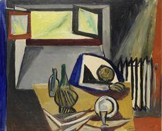 Renato Guttuso (Italian, 1912 - 1987) Interno, 1948 oil on canvas, 48.5 x 59.3 cm