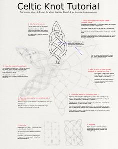 Celtic knots tutorial -- use for journal pages