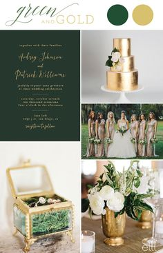 4 Perfect Gold Wedding Invitation Color Palette Ideas