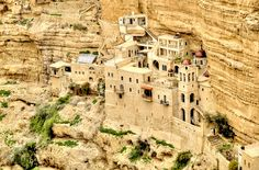 The 6th century St. George's Monastery is perched above the canyon of Wadi Qelt, which many imagine to be Psalm 23's Valley of the Shadow.