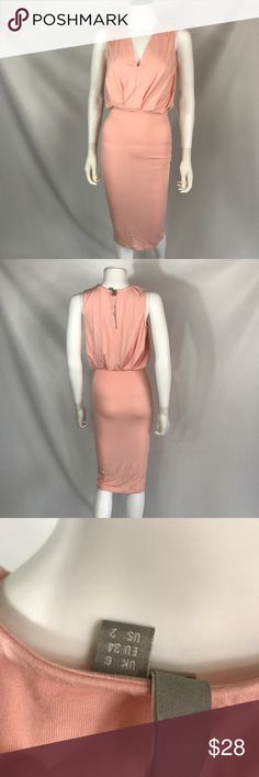 NWT ASOS super soft nude dress very stretchy 2-6 Brand new perfect condition. Will fit 2-6 ASOS Dresses Midi