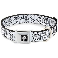 Buckle-Down 9-15' 'BEAR-Dancing Bear Black/Silver' Dog Collar -- You can get additional details at the image link. (This is an affiliate link and I receive a commission for the sales)