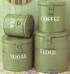 green tin vintage - Google Search