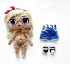 GIRLS'n'DOLLS (Игрушки, красота, творчество) Tutorial Amigurumi, Amigurumi Patterns, Amigurumi Doll, Doll Patterns, Knitting Patterns, Crochet Patterns, Lol Dolls, Cute Dolls, Crochet Doll Pattern