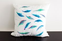 "Sometimes we see a technique that looks so cool and easy that we just have to try it ourselves. On today's docket: re-making Radical Possibility's ""zero-effort"" watercolor-inspired pillows using tools you can find lying around your home. Open your medicine cabinet to find cotton swabs and rubbing alcohol, which will act as our brushes and water, and peek in your desk drawer for your favorite colored Sharpies—those will be our paint. How easy is that?"