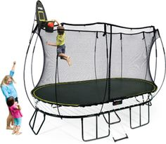 JumpSport 12FT Staged Bounce Trampoline Round With Enclosure Net Combo |  Trampolines And Products